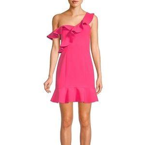 NWT LIKELY Norvina off Shoulder Flounce Mini Dress